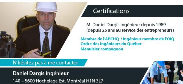 about Daniel Dargis ingenieur montreal