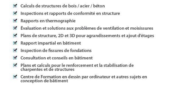 service ingenieur structure batiment oiq montreal construction apchq