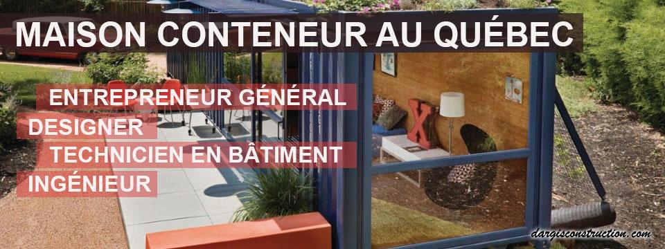 Maison Conteneur Entrepreneur General Construction Container Plan