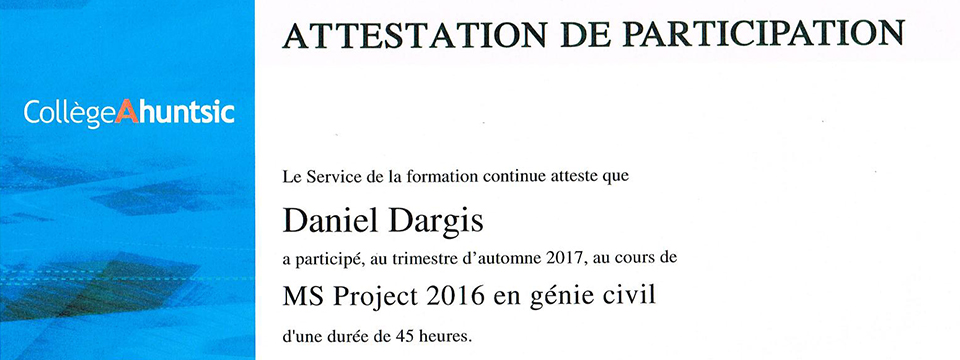 Consultant engineer project manager Daniel Dargis Eng.