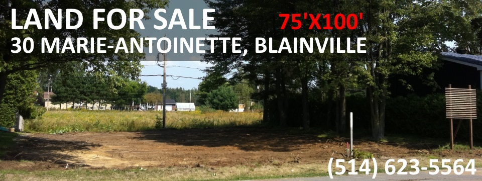land for sale blainville