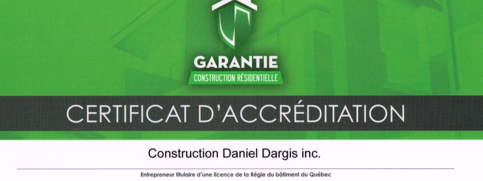 warranty residential construction gcr